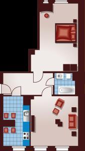 Apartmenthaus Feuerbach, Апартаменты  Лейпциг - big - 12