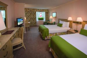 Double Room with Two Double Beds and Gulf View
