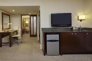 Two Room Suite with King Bed and Living Room