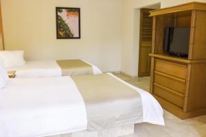 Double Room with Two Double Beds and Balcony - Non-Smoking