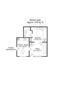 Junior Suite with Kitchen - Exterior Access Pet Friendly