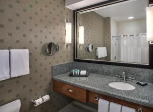Habitación adaptada para personas de movilidad reducida, con cama extragrande y ducha