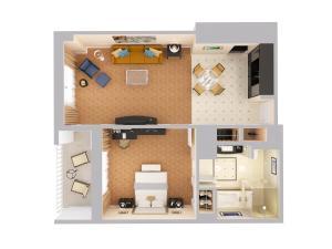 Apartament typu Deluxe Suite z balkonem