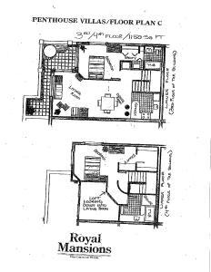 Two Bedroom Penthouse Condominium