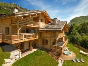 Chalet Macaron, Alpesi faházak  Le Grand-Bornand - big - 9