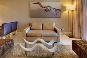 Luxus-Familienapartment mit 1 Schlafzimmer und Balkon