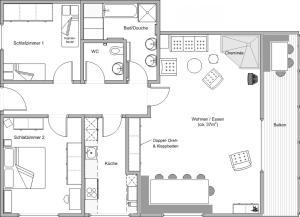 Arcula, Apartmanok  Flims - big - 5