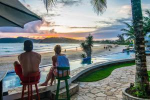 Chez Pitu Praia Hotel, Отели  Бузиус - big - 112