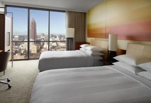 Double Room with 2 Double Beds and City View