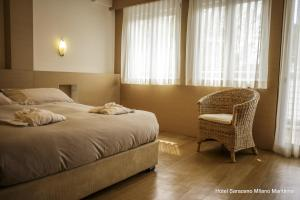 Hotel Saraceno, Отели  Морской Милан - big - 38