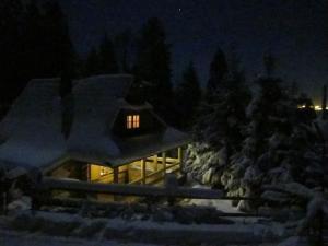 Domek drewniany w górach