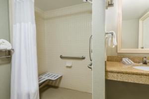 Tweepersoonskamer met 2 Tweepersoonsbedden en Inloopdouche - Geschikt voor Personen met een Lichamelijke Beperking