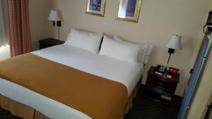 Habitación con cama extragrande y sofá cama