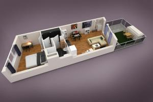 New central apartment with terrace and garage, Апартаменты  Вена - big - 21