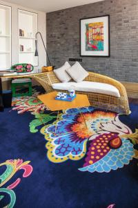 Rom Indigo med king-size-seng og spesiell utsikt