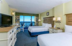 Double Room with Two Double Beds and Oceanfront View
