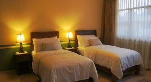 Double Room with Two Single Beds and Mountain View