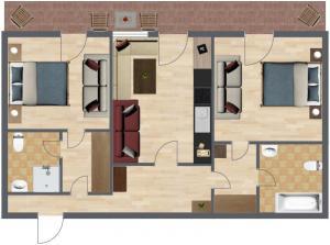 Haus Benedikt, Apartmanok  Heiligenblut - big - 26