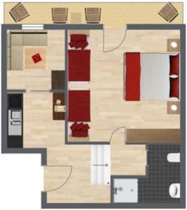 Haus Benedikt, Apartmanok  Heiligenblut - big - 16