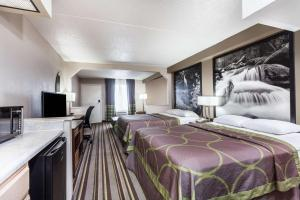Deluxe Room with Two Queen Beds and Sofa Bed