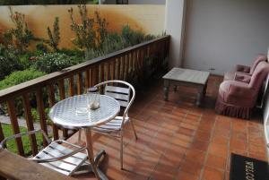 Studio mit Gartenblick