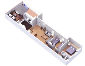 Two-Bedroom Apartment with Terrace - Attic - Casp, 30