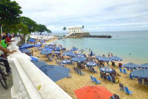 One-bedroom Apartment with Sea view and View to Farol da Barra Praiaville, Apartmány  Salvador - big - 3