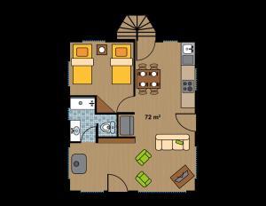 Hotel Salto del Carileufu, Hotely  Pucón - big - 90