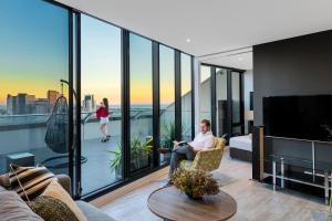 Aura on Flinders Serviced Apartments, Residence  Melbourne - big - 2