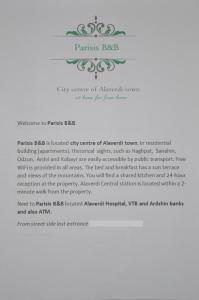 Parisis B&B in Alaverdi, Panziók  Alaverdi - big - 13