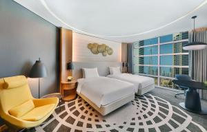 Twin Guest Room with Burj Khalifa View