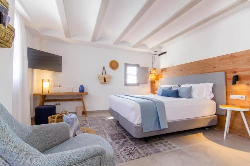 Deluxe Double Room with Side Sea View Hotel Boutique La Serena - Adults Only 8