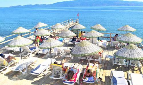 Sokakagzi Assos Nazan Motel Restoran Beach yol tarifi