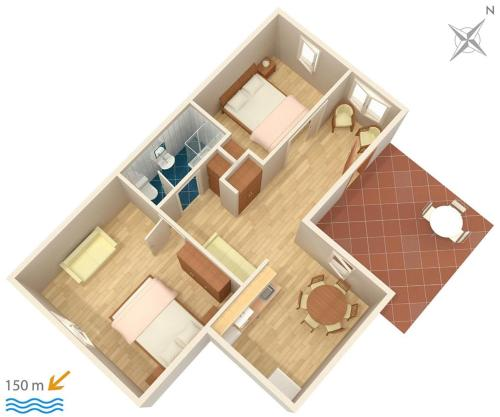 Apartment Podstrana 2087c