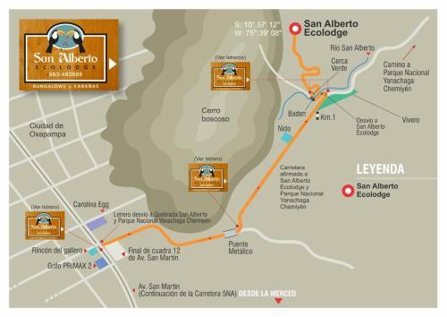 Oxapampa Peru Map.San Alberto Ecolodge Lodge Oxapampa In Peru