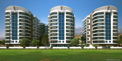Bozyazı Crown City 1+1 apartment adres