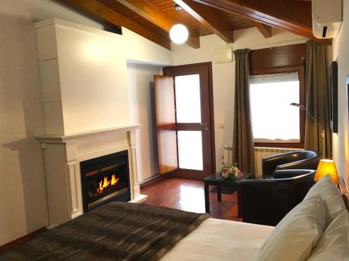 Habitación Doble Superior con chimenea y acceso al spa Hotel Del Lago 10