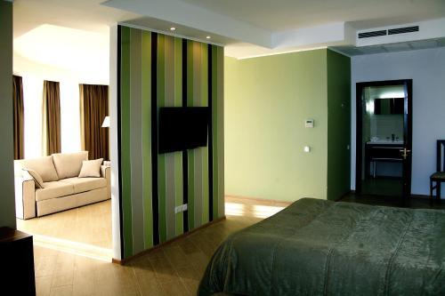Аквамарин Отель и Спа Двухместный номер Делюкс с 1 кроватью или 2 отдельными кроватями