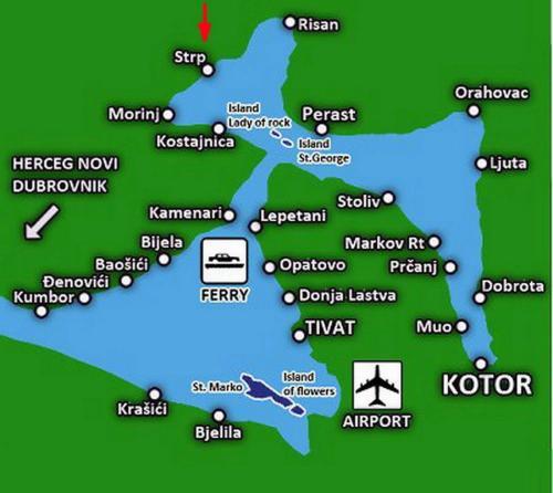 stoliv crna gora mapa Holiday Home Bokokotorski Zaliv, Podgorica, Montenegro. Rates from  stoliv crna gora mapa