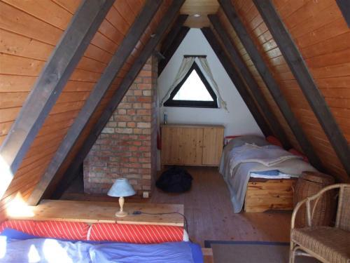 Romantische Finnhütte in der Heide