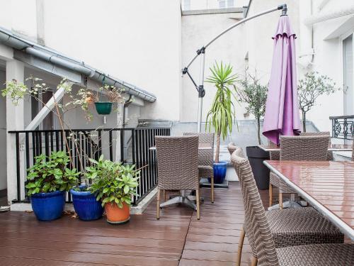 Le myosotis h tel 37 rue de l 39 aude 75014 paris for Hotel design 75014