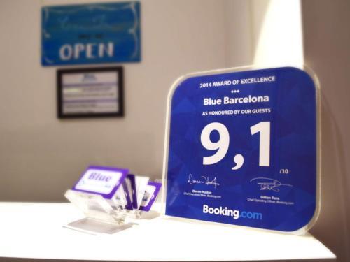 Blue Barcelona impression