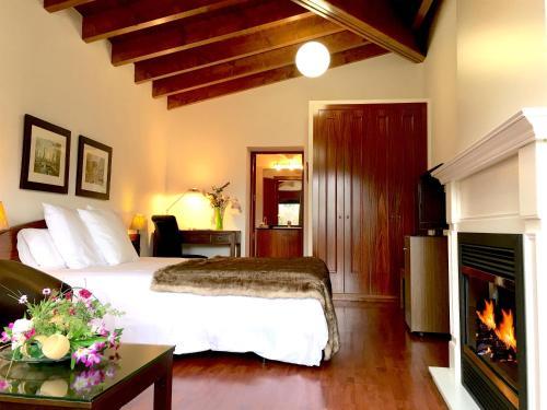 Habitación Doble Superior con chimenea y acceso al spa Hotel Del Lago 11