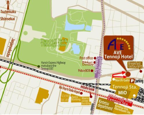 Ave Tennoji Hotel Tennoji-ku Hidenincho 9-19 Osaka, Hotels & Motels ...