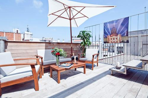 Apartment Barcelona Rentals - Pool Terrace in City Center photo 9