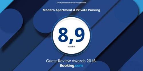 Modern Apartment & Private Parking Photo