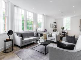 酒店照片: Stylish 2 bed / 2 bath flat next to Battersea Park