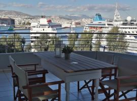 Hotel photo: Chic style 2 bedroom apartment, great views of Piraeus cruise port