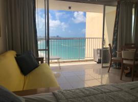 Hotel photo: Beach Front Beach View ESJ Azul Studio Apartment