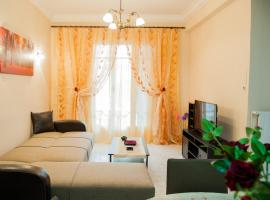 Hotel photo: Bright apt in Thisseio • 4mins from the train st.